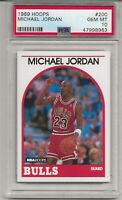 1989 HOOPS #200 MICHAEL JORDAN, PSA 10 GEM MINT, HOF, CHICAGO BULLS, L@@K