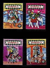 SELLOS TEMA DISNEY. DOMINICA NAVIDAD 1990 1239/42 4v.