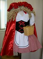 Red Riding Satin Hood Ex Hire Sale Book Week Fancy Dress Costume Size 20-22