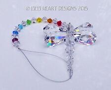 m/w Swarovski Chakra Rainbow Making Dragonfly Suncatcher Lilli Heart Designs