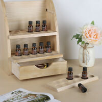 4 Tier 45 Slot Essential Oils Bottle Containers Organizer with Tray Storage Box