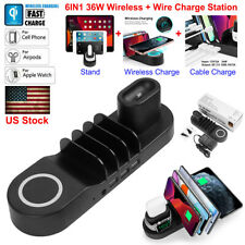 6IN1 Apple Watch Samusng iPhone iPad Wireless Charger Charging Dock Stand Cradle