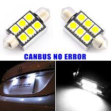 2x Canbus No Error License Plate White LED Light Bulbs 6418 36MM Festoon Lamps