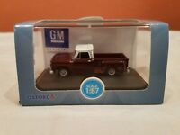 HO (1/87th) Oxford 1965 Chevy Stepside Pick-up - Maroon/White  - NEW!