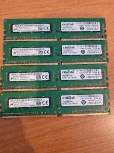 16GB  DDR4 2133MHz Desktop RAM Memory Crucial 4 x 4Gb Modules - Quad Channel