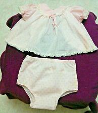 "Vintage Pink Doll Blouse & Panties/ Smock Dress Fits 32"" Playpal or Saucy Walker"
