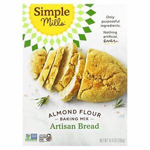 Simple Mills, Naturally Gluten-Free, Almond Flour Mix, Artisan Bread, 10.4 oz