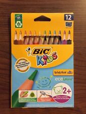2 Packs of 12 BIC Kids Evolution Triangle Colouring Pencils Made in France NEW