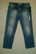 BRIGADE JEANS MENS DESTROYED SLIM SIZE 38x32    ZIP FLY NWT MSRP $49.00