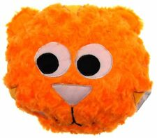 """Orange Cat Pillow Color LED Light Up Flash Plush 10"""" Microbeads Home Couch Decor"""