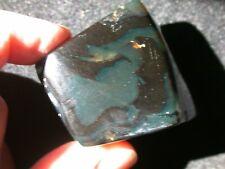 BLUE Black Amber Fossil Gemstone Fully Polished Large 42 g from Bunyu Island