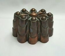 More details for antique copper jelly / jello mould no 211 with eight turrets, swagged buttresses