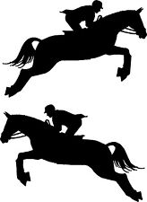 """Horse Jumping Car Decals Stickers for Truck or Trailer (2 - 15"""" x 10"""")"""