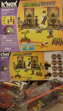 PARTIAL Set- Knex Plants Vs Zombies -2 SEALED bags,manual,stickers NO minifigure
