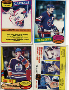 4 - Various - 1980-81  0-pee-chee  Hockey cards  excellent shape Gretzky