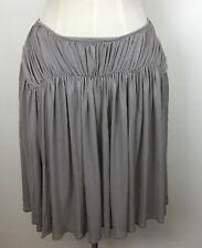 Witchery Grey Cupro/Polyester Skirt - Size 12 - New With Tags