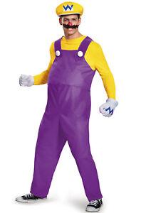 Super Mario Brothers Wario Deluxe Adult Costume