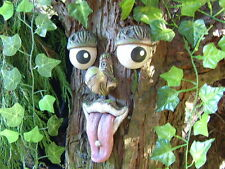 Cheeky Tree Face - tree ornament, sculpture, statue, decoration and gift ideas