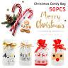 50pcs Christmas Sacks Bags Storage Reusable Drawstring Wrap Present Gift Party