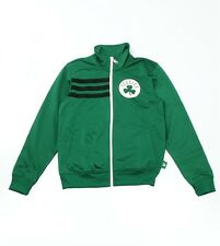 ADIDAS Da Uomo BOSTON CELTICS FULL ZIP Poly Track Top Giacca in Verde-Medio