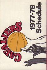 1977-78 Cleveland Cavaliers Basketball Schedule jhxb