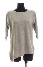 COMPTOIR DES COTONNIERS Women's Grey Cotton Cashmere Asymmetric Sweater Size 2