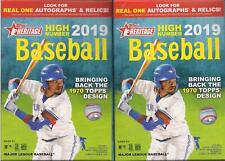 2019 Topps Heritage High Number Baseball Factory Sealed Hanger Box (2 Box Lot)