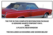 PLYMOUTH VALIANT & SIGNET CONVERTIBLE TOP DO IT YOURSELF PACKAGE 1965-1966