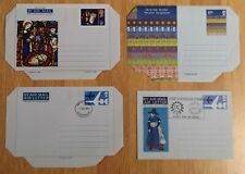 Gb 4 unused pre-paid air mail letters 1970's Mint Condition