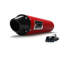 HMF Yamaha Kodiak 450 2018 - 2020 Red/Blk Euro Slip On Exhaust + EFI