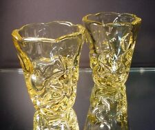 Rare Pr Pierre D'Avesn Art Deco Citrus Yellow Wave Vases Daum Freres France 1935