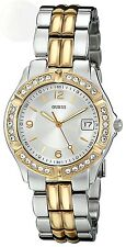 Guess Womens U0026L1 Dazzling Sporty Silver & Gold-Tone Mid-Size Watch New