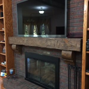 """New Pine  6 by 8 by 54"""" Hand Hewn Rustic Barn Beam Style Fireplace Mantel Solid"""
