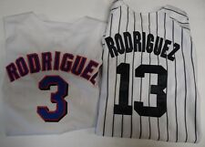 Alex Rodriquez Jersey lot of 2 Yanks Majestic 18/20 Rangers R 14/16 041418DBT