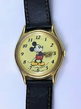 VINTAGE WALT DISNEY MICKEY MOUSE LORUS QUARTZ WRIST WATCH – MICKEY FACES RIGHT