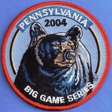 Pa Pennsylvania Game Fish Commission Wilderness Editions 2004 Black Bear Patch