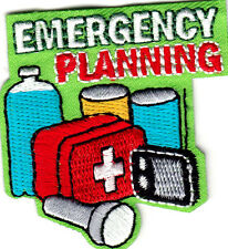 """EMERGENCY PLANNING"" - FIRST AID - RED CROSS - IRON ON EMBROIDERED PATCH"