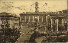Roma Rom frankierte AK 1924 Campidoglio Partie am Kapitol mit Senatoren Palast