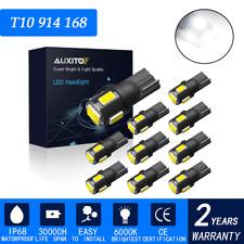 10X AUXITO E T10 194 168 2825 W5W Wedge Light Bulbs LED 6000K Super White 6-SMD