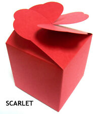 Valantine Red LARGE Cupcake boxes muffin, with heart lid (PACK x 10) sweet box