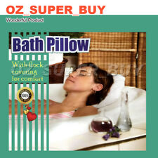 Shell Shape Soft Inflatable Bath Pillow Terrycloth & Vinyl Covering - White