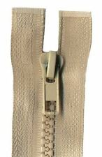 80cm Beige Open End Chunky Zip