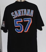 New York Mets Majestic Johan Santana 2009 Inaugural Season Men's T Shirt Size XL
