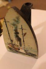 VAPEUR Bateau de pêche-Huile sur fer plat-Peinture originale-Bradford