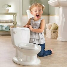 Potty Training Toilet Looks Feels Like an Adult Toilet Easy to Empty Clean White