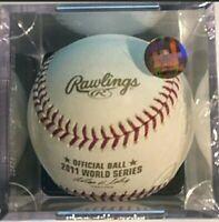 Official Rawlings 2011 World Series Baseball SEALED Texas Rangers vs Cardinals