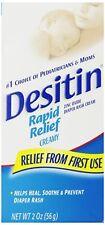 2 Pack - Desitin Rapid Relief Diaper Rash Creamy Ointment 2oz Each