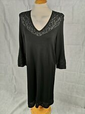 Ladies Dress Size 18 MONSOON Black Knit Jumper Sheer Panels Smart Casual Day
