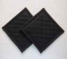 Black Quilted Coaster, Trivet,Pot Holders,Hot Pad - Set of 2