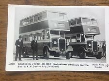 IOW Isle Of Wight Libraries Postcard New Southern Vectis Buses Freshwater 1936